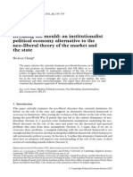 Breaking the mould. An institutionalist political economy alternative to the neo-liberal theory of the market and the state.