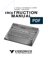 Videonics Titlemaker 2000 User Manual