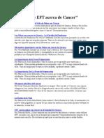 Artículos de EFT Acerca de Cancer