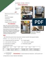 relazioni-calore specifico e dilatazione lineare del tubo di metallo