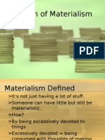 The Sin of Materialism Powerpoint Presentation.ppt