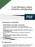 Revisión de Literatura Sobre Crecimiento y Desigualad