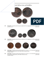 A Collection of South African Coins and Medallions