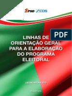 Programa eleitoral da coligação PSD-CDS (linhas orientadoras)
