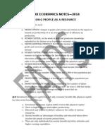 Class Ix Economics Notes 2 2014
