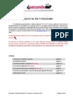 4Secunde - Manual de Utilizare - V.2.6