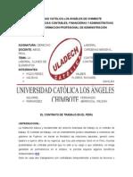 El Contrato de Trabajo en El Peru