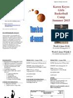 Ridgewood Girls Basketball Camp 2015