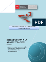Introduccion a La Administracion - Semana 1
