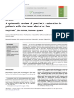 Review of Prosthetic Restoration in Patients With Shortened Dental Archs