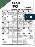 UFO Historical Calendar