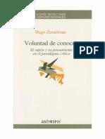 Zemelman Hugo Voluntad Del Conocer