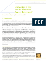 """Álvarez Ugarte, Ramiro y Eleonora Rabinovich (2013), """"Los intermediarios y los desafíos para la libertad de expresión en Internet"""", en Cuestión de derechos nº4"""