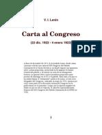V.i. lenin Carta Al Congreso