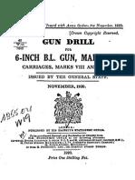 Gun Drill 6-Inch B.L. Mk XIX