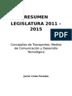 Resumen Legislatura 2011-2015