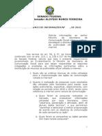 Requerimento de informações à Secom sobre uso de verba publicitária na internet