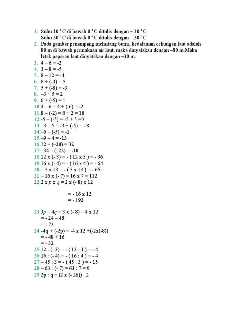 Contoh Soal Penalaran Matematika Smp