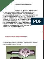 Válvula de Control de Marcha Mínima (Iac