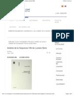 Análisis de La Sequenza VIIb de Luciano Berio - AdolpheSax the SAX WEB