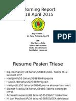 Morning 18 April 2015 Anemia Aplastik