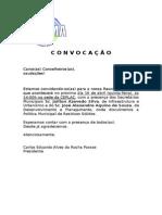 Convocação Reunião Ordinária 16.04.15
