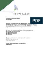 Convocação Reunião Ordinária 15.01.15