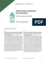 XXXV Congreso Argetino de Horticultura