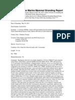 Pygmy sperm whale necropsy report