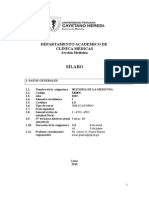 Syllabus Historia de la Medicina UPCH