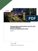 Cisco ACI Citrix NetScaler Sharepoint
