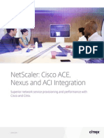 NetScaler Cisco ACE Nexus and ACI Integration