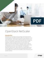 OpenStack and NetScaler