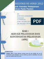 Akreditasi RS versi 2012 Standar 1
