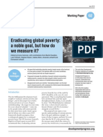 Eradicating Global Poverty a Noble Goal but How Do We Measure It