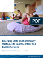 Emerging State and Community Strategies to Improve Infant and Toddler Services