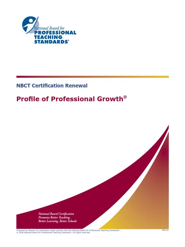 Profile Prof Growth Professional Certification Teachers