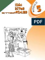 Generación de proyectos empresariales - Modulo 5