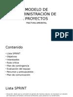 Modelo de Administración de Proyectos