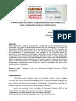 A IMPORTÂNCIA DA PRÁTICA PEDAGÓGICA NO ESTAGIO CURRICULAR