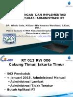 Pengembangan Dan Implementasi Sistem Aplikasi Administrasi Rt