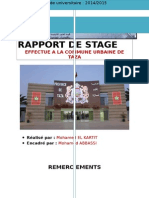 Rapport de Stage Sur La Commune de TAZA Docx