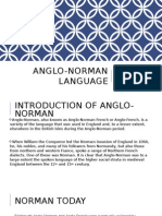 Anglo Norman Language