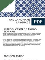 Anglo Norman Language