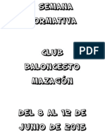 I Semana Formativa del Club Baloncesto Mazagón