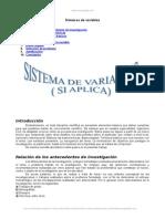 Sistema Variables