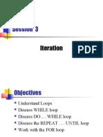Session3 - Iteration