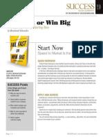 Fail Fast or Win Big Summary - Success Magazine Book Summaries