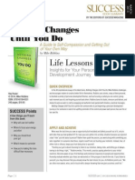 Nothing Changes Summary - Success Magazine Book Summaries