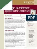 Strategic Acceleration Summary - Success Magazine Book Summaries